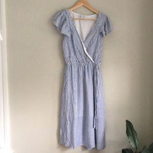 Spirit of Grace Flutter Sleeve Striped Dress Med.